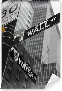 New York - Wall Street Vinyl fototapet