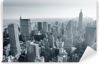 Fototapet av Vinyl New Yorks skyline svart och vitt