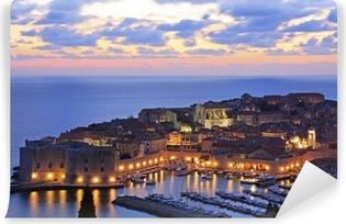 Old Harbour i Dubrovnik, Kroatien Vinyl fototapet