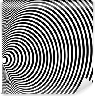 Opt Art Illustration til dit design. Optisk illusion. Abstrakt baggrund. Brug til kort, invitation, baggrunde, mønsterfyldninger, websider elementer og etc. Vinyl Fototapet