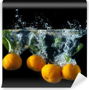 Orange splash Vinyl fototapet