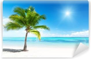 Fototapet av Vinyl Palm och hav