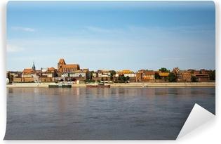 Panorama af Torun, Polen Vinyl fototapet