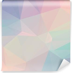 Fototapet av Vinyl Pastell Polygon geometriska