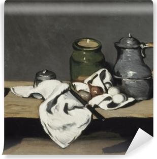 Fototapet av Vinyl Paul Cézanne - Stilleben med en vattenkokare