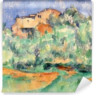Paul Cézanne - The House på Bellevue Vinyl fototapet