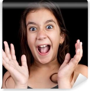 82e2bf1fe2a5 Smuk kvinde med brede åbne grønne øjne og glatte læber Fototapet • Pixers®  - Vi lever for forandringer