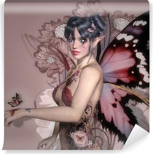 Fototapet av Vinyl Pink fairy