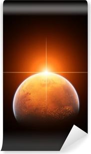 Planet Mars med stigende sol Vinyl fototapet