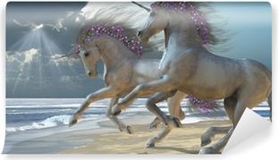 Fototapet av Vinyl Playing Unicorns Del 2