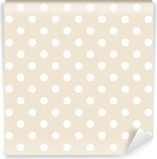 Polka prikker på neutral baggrund retro sømløs vektor mønster Vinyl fototapet