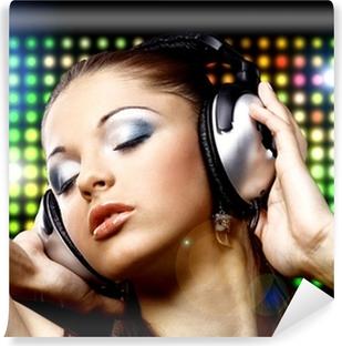 Fototapet Musik kvinna porträtt silhuett • Pixers® - Vi lever för ... bd0cb4a8ce6d2