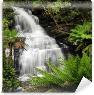 Rainforest vandfald Vinyl fototapet