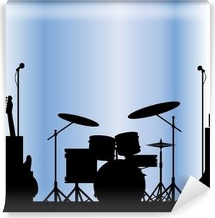 Rock Band udstyr Vinyl fototapet