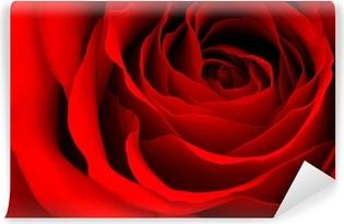 Rød rose Vinyl fototapet