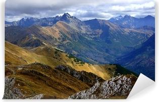 Fototapet av Vinyl Röda Bergstoppar, Tatras Mountains i Polen