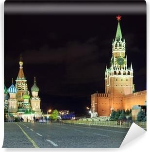 Fototapet av Vinyl Röda torget i natten. Moskva. Ryssland