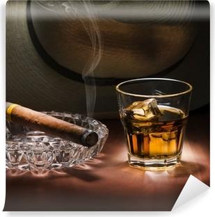 Fototapet av Vinyl Rom och cigarr