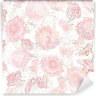 Fototapet av Vinyl Romantisk Soft Vector Blommönster