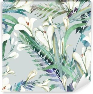 Fototapet av Vinyl Seamless Crocosmia blommor