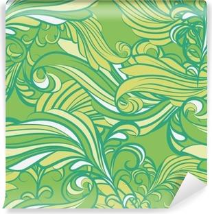 Fototapet av Vinyl Seamless mönster i grönt
