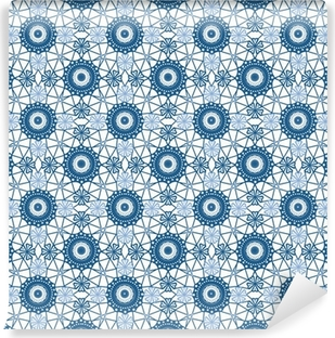 Canvastavla Seamless tyg blå spets mönster på vit • Pixers® - Vi ... f2bb798ed6524
