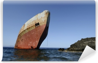 Shipwreck Vinyl fototapet