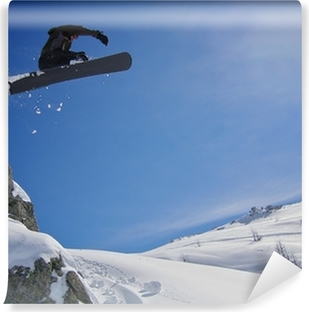 Fototapet av Vinyl Snowboarden