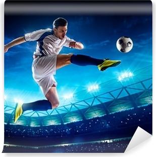 Fototapet av Vinyl Soccer Player in Action