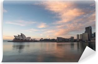 Solopgang på Opera House landemærke Sydney, Australien Vinyl Fototapet