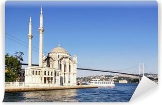 Fototapet av Vinyl Sommar på Ortakoy med Mecidiye moskén