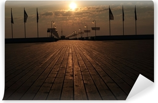 Sopot molo wschód słońca Vinyl fototapet