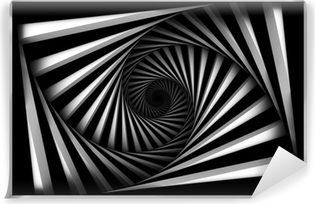 Sort og hvid spiral Vinyl Fototapet