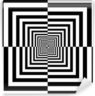 Sorte og hvide firkanter Vinyl Fototapet