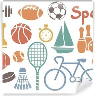 Sport ikon sæt Vinyl fototapet