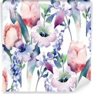 Fototapet av Vinyl Spring Bouquet Seamless