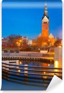 Fototapet av vinyl St. Nicholas katedral i gamlebyen Elblag, Polen