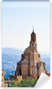 Fototapet av Vinyl St Paul basilika på Harissa nära Beirut i Libanon