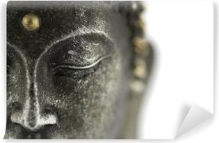 Statue de bouddha sur fond blanc Vinyl fototapet