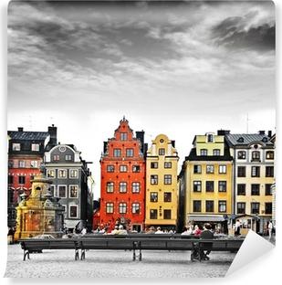 Fototapet av Vinyl Stockholm, mitt i gamla stan,