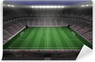 Stort fodboldstadion med lys Vinyl fototapet