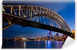 Sydney om natten Vinyl Fototapet