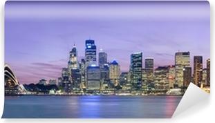 Sydney skyline som set over havnen fra Kirribilli Vinyl Fototapet