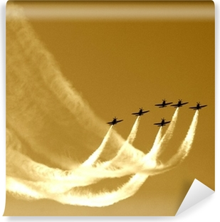 Fototapet av Vinyl Synkroniserad laget flyg-flyga i formationer