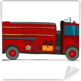Fototapet av Vinyl Tecknad brandbil