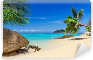 Tropisk strandlandskab i Thailand Vinyl fototapet