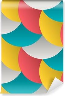 Udsmykkede geometriske kronblade, abstrakt vektor sømløs mønster Vinyl Fototapet