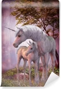 Fototapet av Vinyl Unicorn Mare och föl