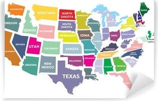 Pixerstick Klistremerke Usa Kart Med Stater Pixers Vi Lever