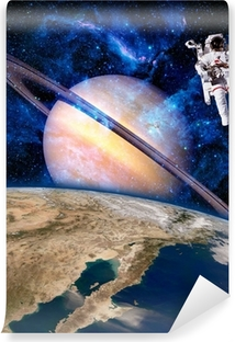 Fototapet av Vinyl Utrymme Astronaut Spaceman